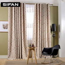 High Quality Korean Jacquard Faux Linen Curtains for the Bedroom Windows Drapes Fabric for Living Room Curtains