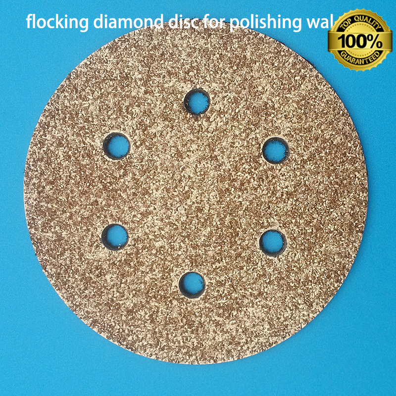 ФОТО circle diamond flocking polishing pad for wall polisher tool export quality for home decoration
