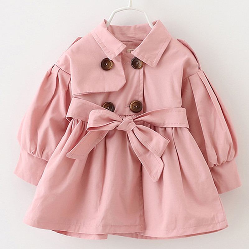 Alice Autumn winter children's clothing baby girl windbreaker fashion solid color top for 1-6Yrs old kids K1 3