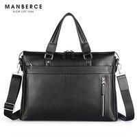 Genuine Leather Man Handbag P Kuone Commercial Genuine Leather Man Briefcase Cross Body Shoulder Bag