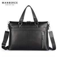 Genuine Leather Man Handbag P Kuone Commercial Genuine Leather Man Briefcase Cross Body Shoulder Bag