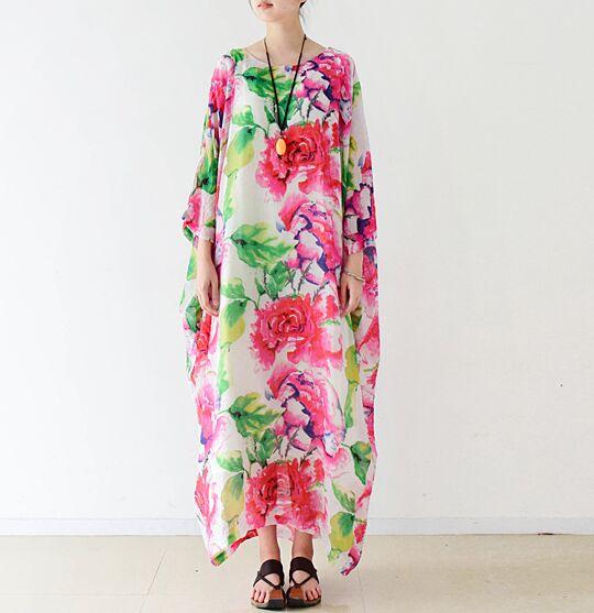 Womens Summer Maxi Dress 2016 New Arrival Ladies Floral Dress Printed Club Party Robe Longue Femme Plus Size Dress Vestido Renda