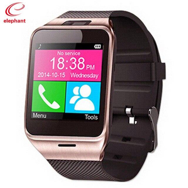 imágenes para Venta caliente aplus gv18 bluetooth mp3 a prueba de agua smart watch android acondicionamiento físico de la tarjeta SIM para ios android pk teléfono smartwatch U8 DZ09