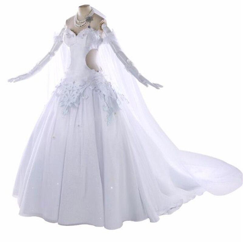 2019 Japanese Anime Hot Game Fate Fgo Altria Pendragon Saber Cosplay Costume Gorgeous Wedding Dress