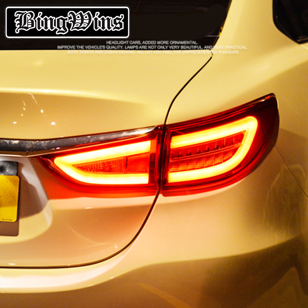 Car TailLight For Mazda 6 Atenza Sedan 2014 2015 mazda6 Taillights LED Tail Lamp Rear Lamp DRL+Brake+Park+Signal light Back