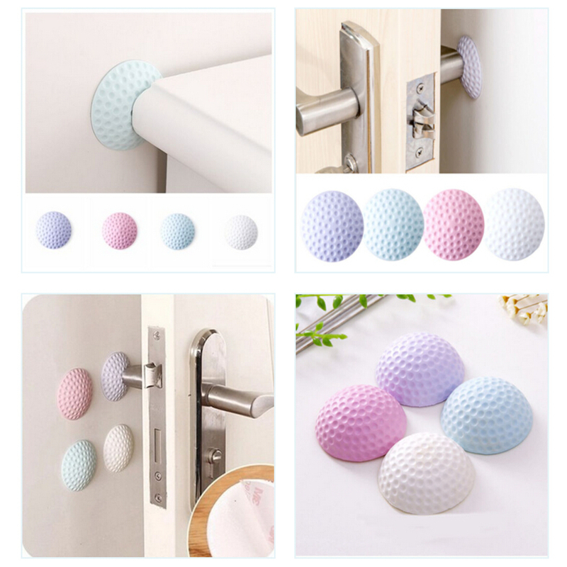 4PCS Random Delivery Self Adhesive Rubber Door Buffer Wall Protectors Door Handle Bumpers For Door Stopper Doorstop Wall