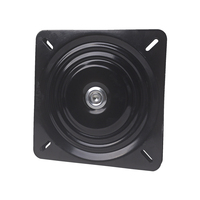 245 x 2.0mm Metal Black Ball Bearing Square Swivel Turntable Chair Swivel for Bar Stool Chair