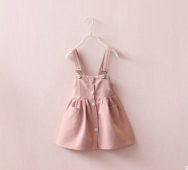 Y31322036 Retail 2017 Muchachas de La Manera Del Verano Vestidos de Overol Deslizó Muchacha de La Princesa Vestidos Ropa de Niños