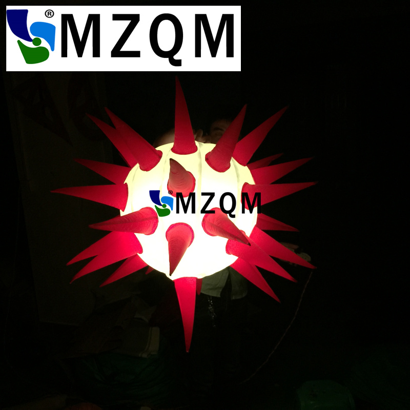 MZQM Free shipping hanging colorful attractive inflatable led star for club decoration