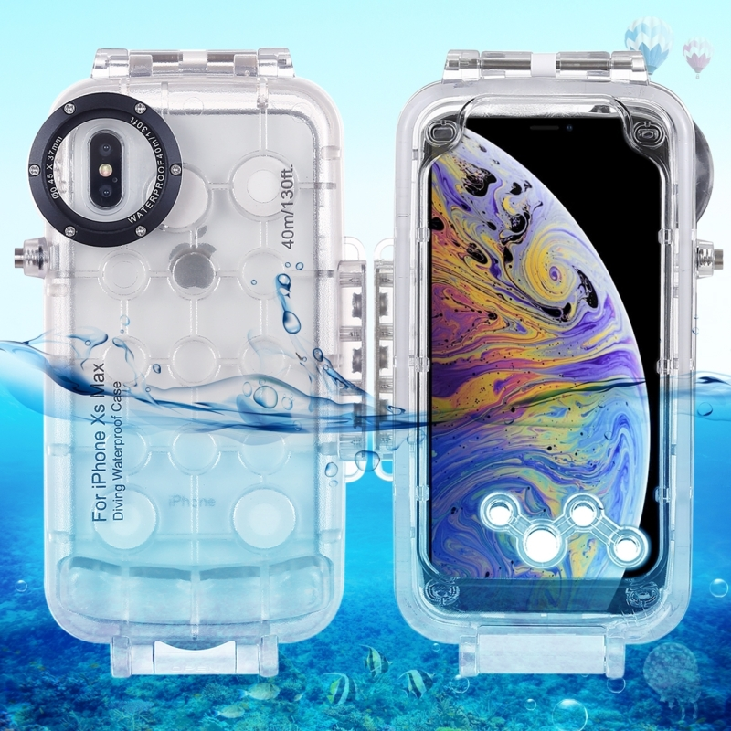Haweel 40m 130ft Professional Waterproof Diving Housing Photo Video Taking Underwater Cover Case For iPhone XS