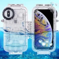 Haweel 40m/130ft Professional Waterproof Diving Housing Photo Video Taking Underwater Cover Case For iPhone XS Max