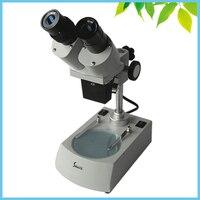 Elektronik Kurulları PCB Muayene Onarım Üst Alt ile 40X Binoküler Stereo Mikroskop Halojen Lamba Aydınlatma