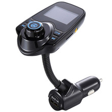 Car Kit with LCD Display Handsfree Set Wireless In-Car Bluetooth  FM Transmitter MP3 Music Player 5V 2.1A USB Charger