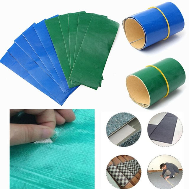 5pcs/lot Self adhesive waterproof Nylon stickers cloth patches Mend Down Outdoor Tent Repair tape patch tent accessories