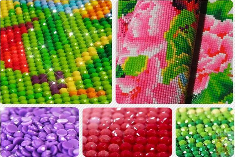 Flores de peonía Diamante redondo Diy 5D pintura diamante kits de - Artes, artesanía y costura - foto 4