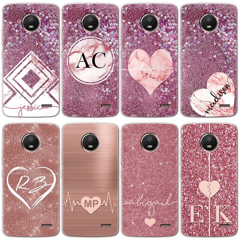 Silicone Case For Coque Motorola Moto G4 G3 G5S C E4 EU One G5 M X4 Play Plus Cover For Mote G6 Plus Case Heart Love Glitter