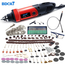 BDCAT 110V/220V 400W Electric Mini Drill Variable Speed Rotary Tools Grinder Polishing Machine Engaving Dremel Tool Accessories