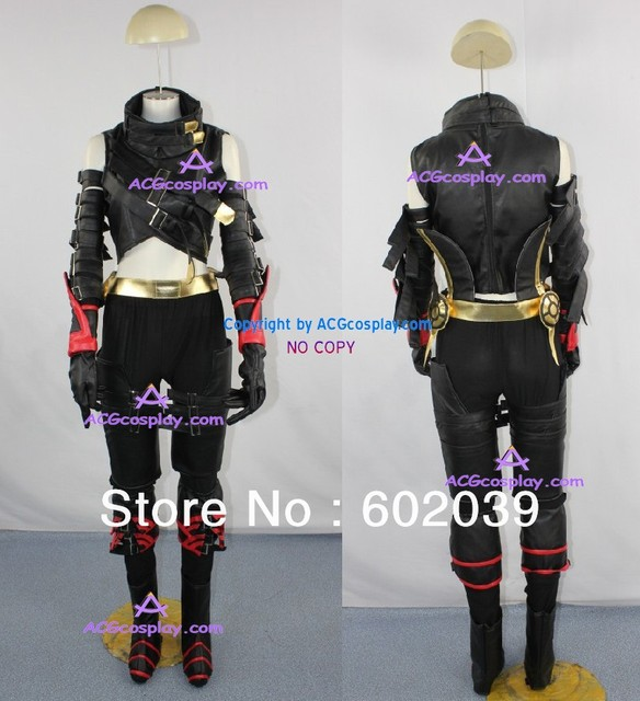 Hack Roots Haseo Cosplay Costume include boots cover and gloves good  quality faux leather made ACGcosplay