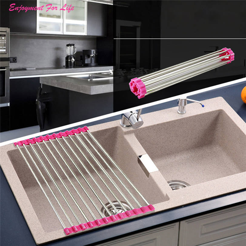 Sink Storage Dish Drying Rack Holder 2016 Wholesale High Quality Fruit Vegetable Drainer Colanders Kitchen