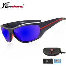 Queshark Anti-UV Polarized Fishing Sunglasses Sports Glasses Camping Hiking Cycling Climbing Eyewear Fishing Glasses