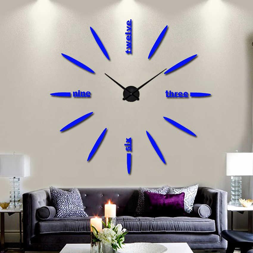 130 センチメートル工場 2019 壁時計アクリル + EVR + 金属ミラースーパービッグパーソナライズされたデジタル時計ホット DIY 送料無料