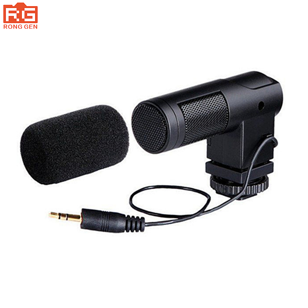 BOYA BY V01 Stereo Condenser Microphone for Nikon D5500 D5300 D3300 D3100 D750 for Canon 7D