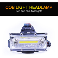 Oobest COB Strong Light Head Lamp Portable Outdoor Camping Night Fishing Riding Climbing Super Bright Lighting