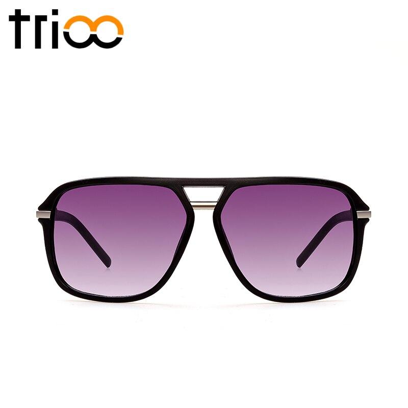 TRIOO Matte Black sluneční brýle pro muže Pilot Style Gradient Shades Vintage Cool Sluneční brýle pro muže Cool UV400 Ochrana Oculos