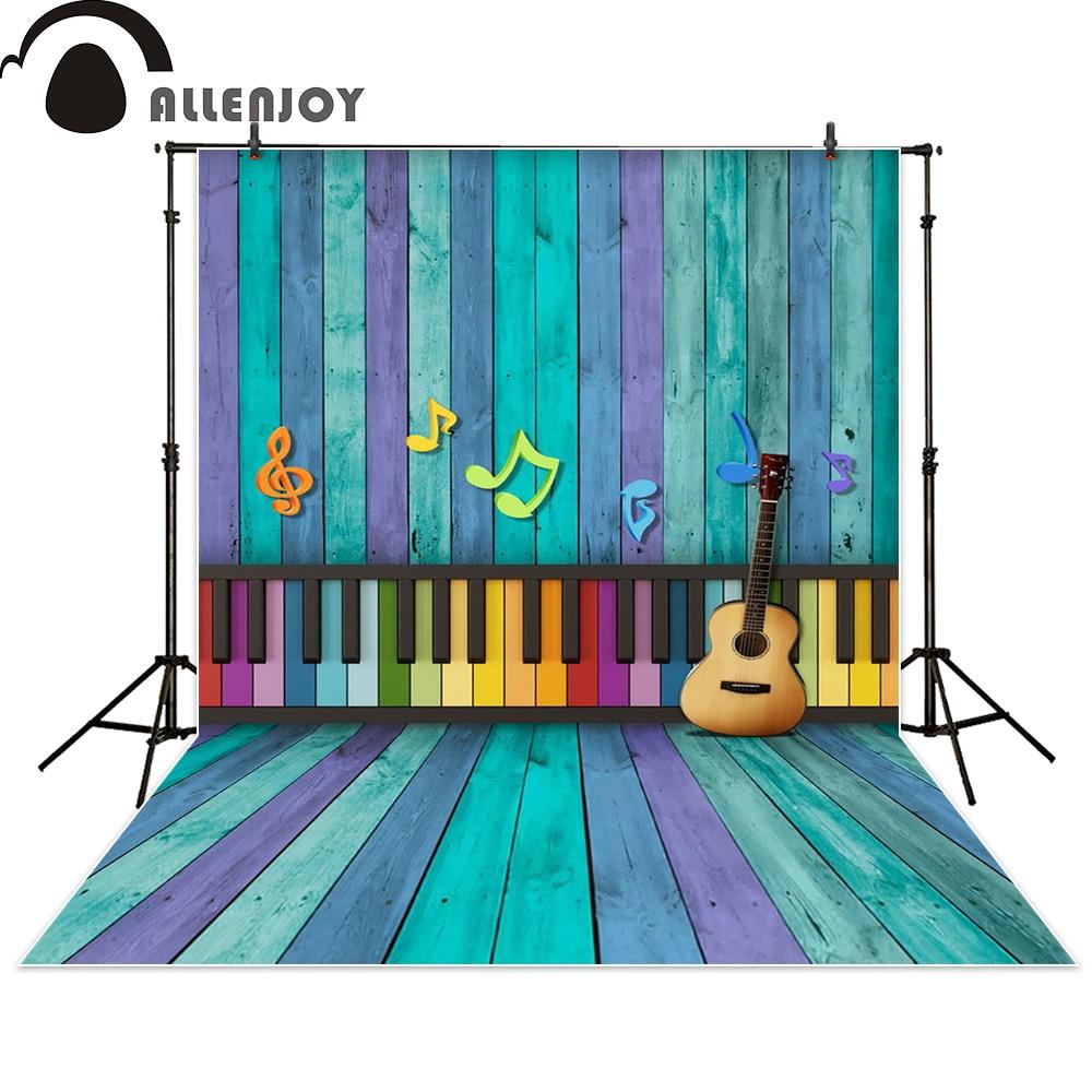 Allenjoy photography backdrop rainbow wooden keys of the piano music guitar newborn photo studio photocall background акустика центрального канала paradigm studio cc 490 v 5 piano black