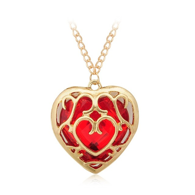 Zelda Heart Container Necklace: Hollow Out The Legend Of Zelda Red Heart Container