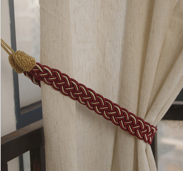 5 pairs Rope Cord Curtain Tiebacks holdback braided Living Room