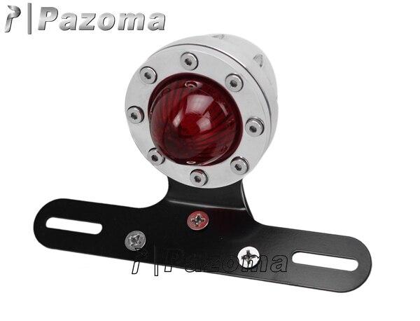 Motorrad 12 Volt Led rücklicht Motor Poliert Rot Rücklicht ...