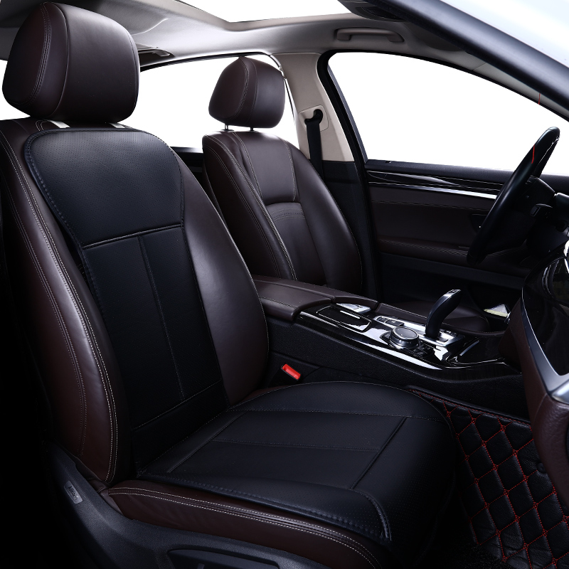 New  Leather Small Waist Car Cushion Four Seasons General Seat Cover Single-seat Leather With Back Of A Chair Seat