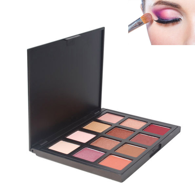 High Quali 12 Colors Portable Eyeshadow Palette Shining Shimmer Nature Glow Makeup Make Up Set Eye Shadow Cosmetics @88 WH998