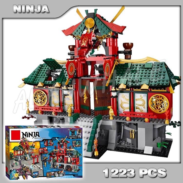 1223 pièces nouvelle bataille pour Ninja ville Temple Figures 9797 ensembles modèle blocs de construction briques classique jouets cadeaux Compatible avec