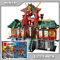1223pcs New Battle for Ninja City Temple Figures 9797 Sets Model Building Blocks Bricks Classic Toys Gifts Compatible With lego