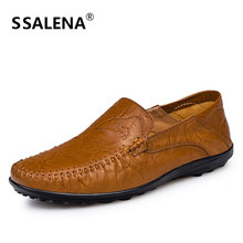 Men Dress Shoes 100% Genuine Leather Breathable Formal Working Shoes Men Soft Comfortable Oxford Loafers Shoes AA20559