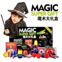 Magic Trick Set 50 Kinds Magic Play with DVD Teaching Professional Magic Tricks Stage Close Up Magic Prop Gimick Card Puzzle Toy