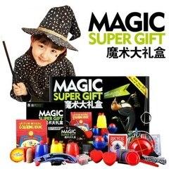 Juego de truco de magia 50 tipos de juego de magia con DVD de enseñanza de trucos de magia profesional escenario Primer plano Magic Prop Gimick Card Puzzle juguete