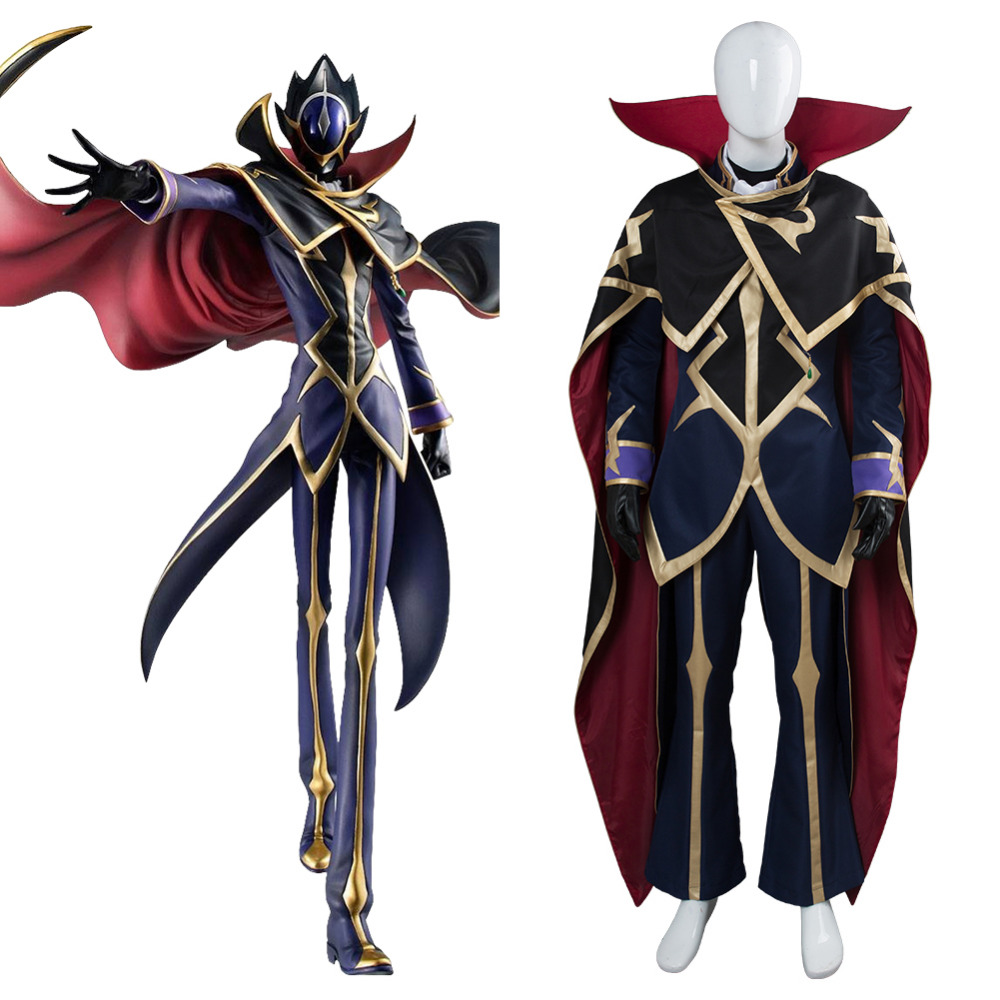 Anime CODE GEASS Lelouch of the Rebellion Cosplay Lelouch Lamperouge Cosplay Costume Halloween Carnival Uniform Custom Made