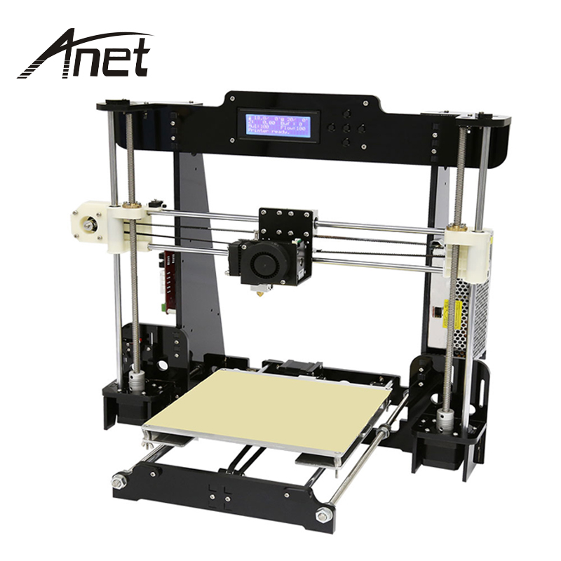 Anet A8 A6 3D Printer High Precision Reprap Pruse i3 DIY Hotbed Filament SD Card 12864 LCD  Auto Level anet a6 desktop 3d printer kit big size high precision reprap prusa i3 diy 3d printer aluminum hotbed gift filament 16g sd card