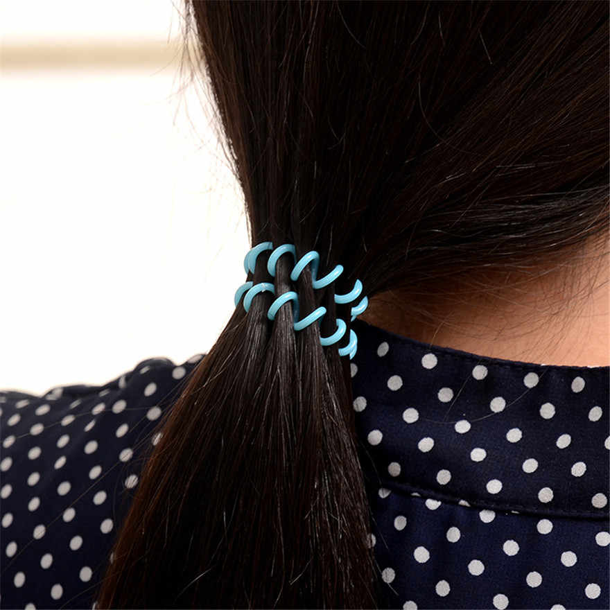 ファッション髪のロープ電話リングサークルバンド女性シュシュ装飾アクセサリー女児弾性電話回線ヘアバンドの宝石