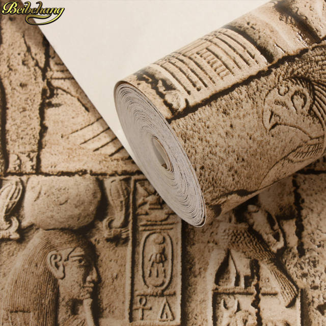 Online shop beibehang high quality embossed wallpaper d egypt