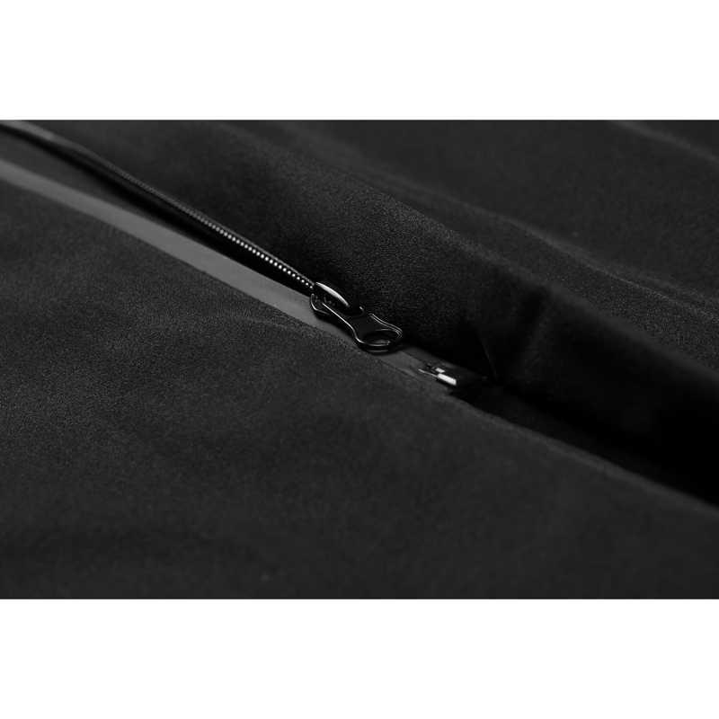 Enjeolon ブランドの綿パッド入りロングジャケット男性防風パーカーパーカー黒固体厚いキルティングコート男性プラスサイズ 3XL MF0625