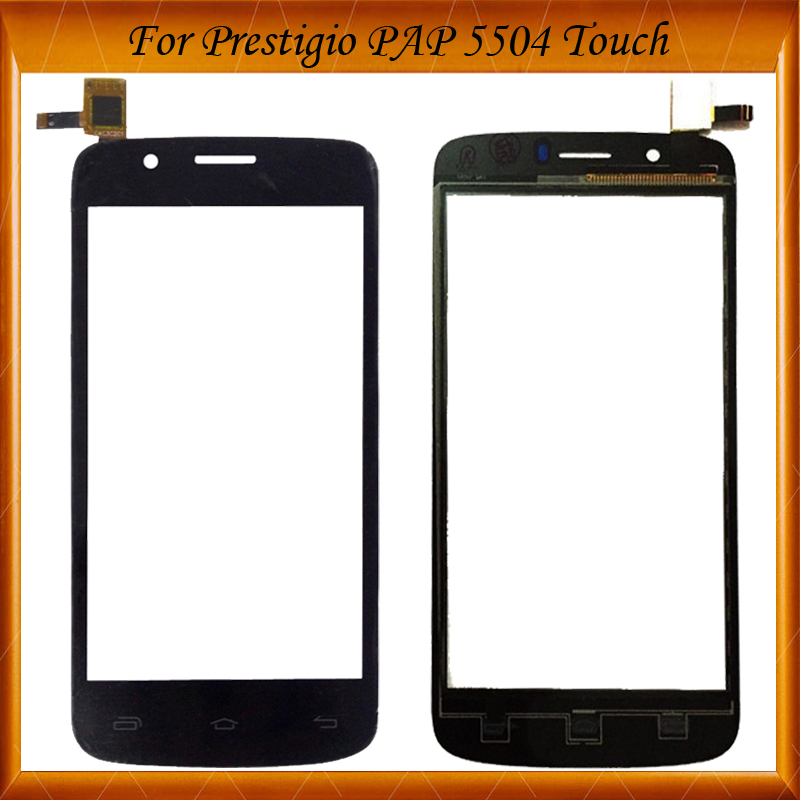 Touch Screen Digitizer Panel Front Glass Sensor For Prestigio MultiPhone PAP5504 PAP 5504 DUO Touch screen 5pc/lot