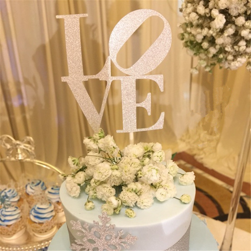 Buy love cake topper beautiful and get free shipping on aliexpress junglespirit Image collections