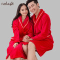 2016 New Winter Coral Fleece Bathrobe Women Dressing Gowns For Women Thickening Warm Robes Sleep & Lounge Wear Bathrobes E0366