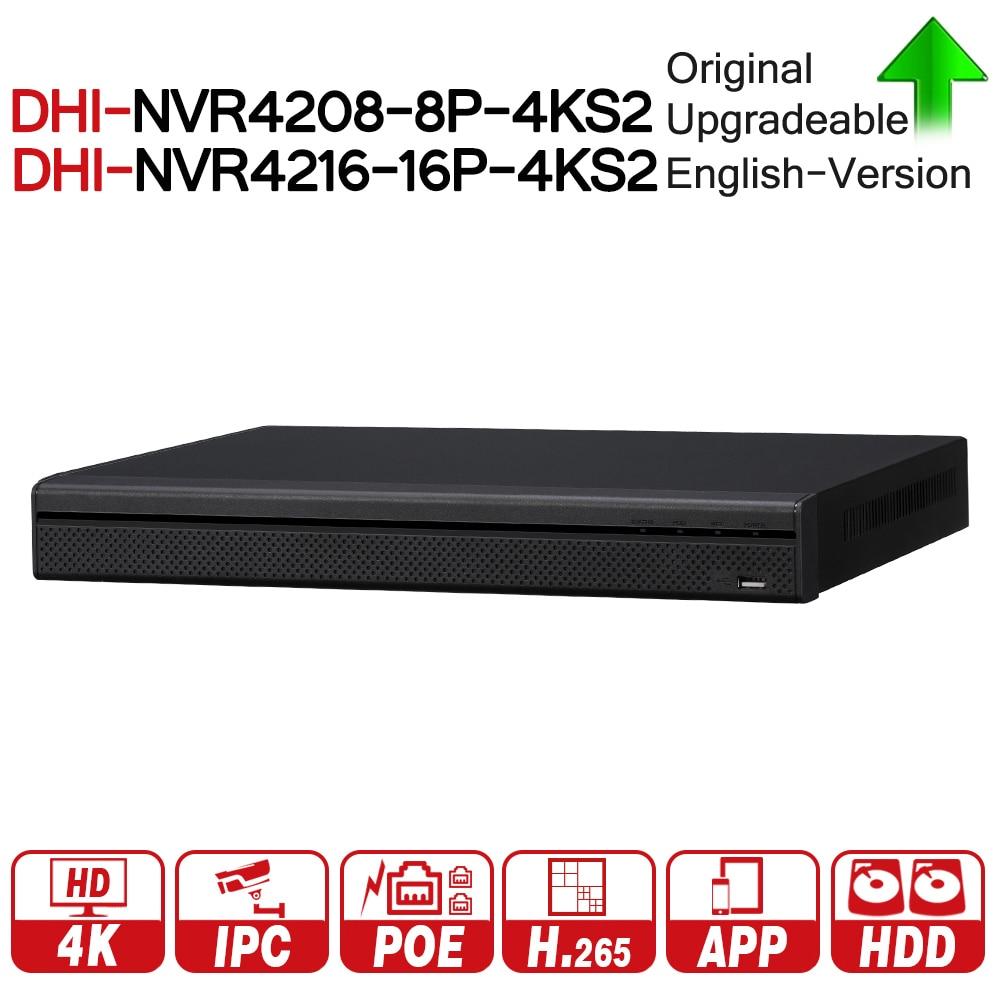 DH 4 k NVR NVR4208-8P-4KS2 NVR4216-16P-4KS2 Con Porta PoE Supporto 4 k POE H.265 2 SATA Per Professione Macchina Fotografica del IP sistema di sicurezza