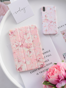 Image 1 - Pink Flower Flip Cover For iPad Pro 9.7 11 air 10.5 12.9 2020 Air2 Mini 1 2 3 4 5 2019 Tablet Case for New iPad 9.7 2017 2018