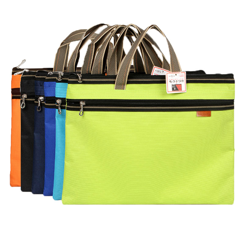 Dumei A4 portable and double-deck document bag file pocket oxford fabric office school supplies NF-263 dumei a4 a5 b6 double deck portable snap document bag file pocket with double zipper office school supplies nf 633